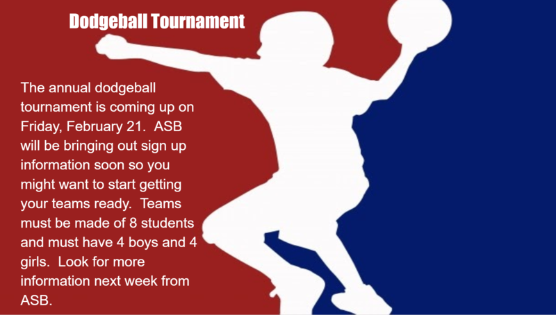 Dodgeball Tournament Feb. 21st! Featured Photo