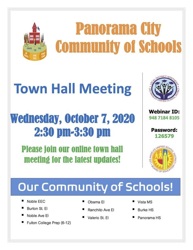 Panorama City of Schools Town Hall Meeting Thumbnail Image