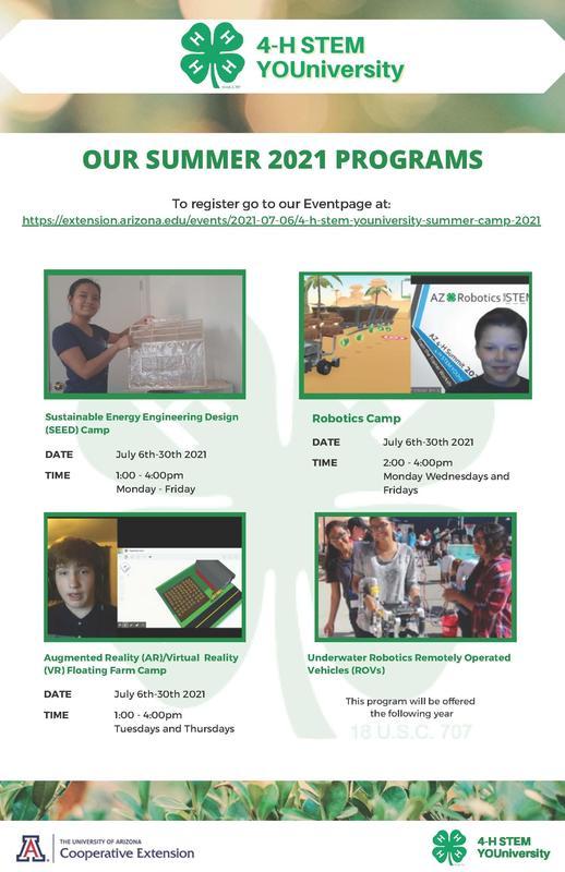 4-H STEM University Summer Program Featured Photo