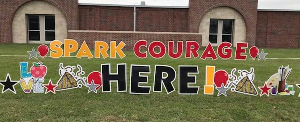 Image of Spark Your Courage Yard Sign