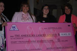 superintendent abbato, community director juaquin, breast cancer rep & capizzi