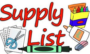 Supply List Clipart
