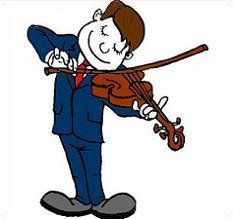 clipart of violinist