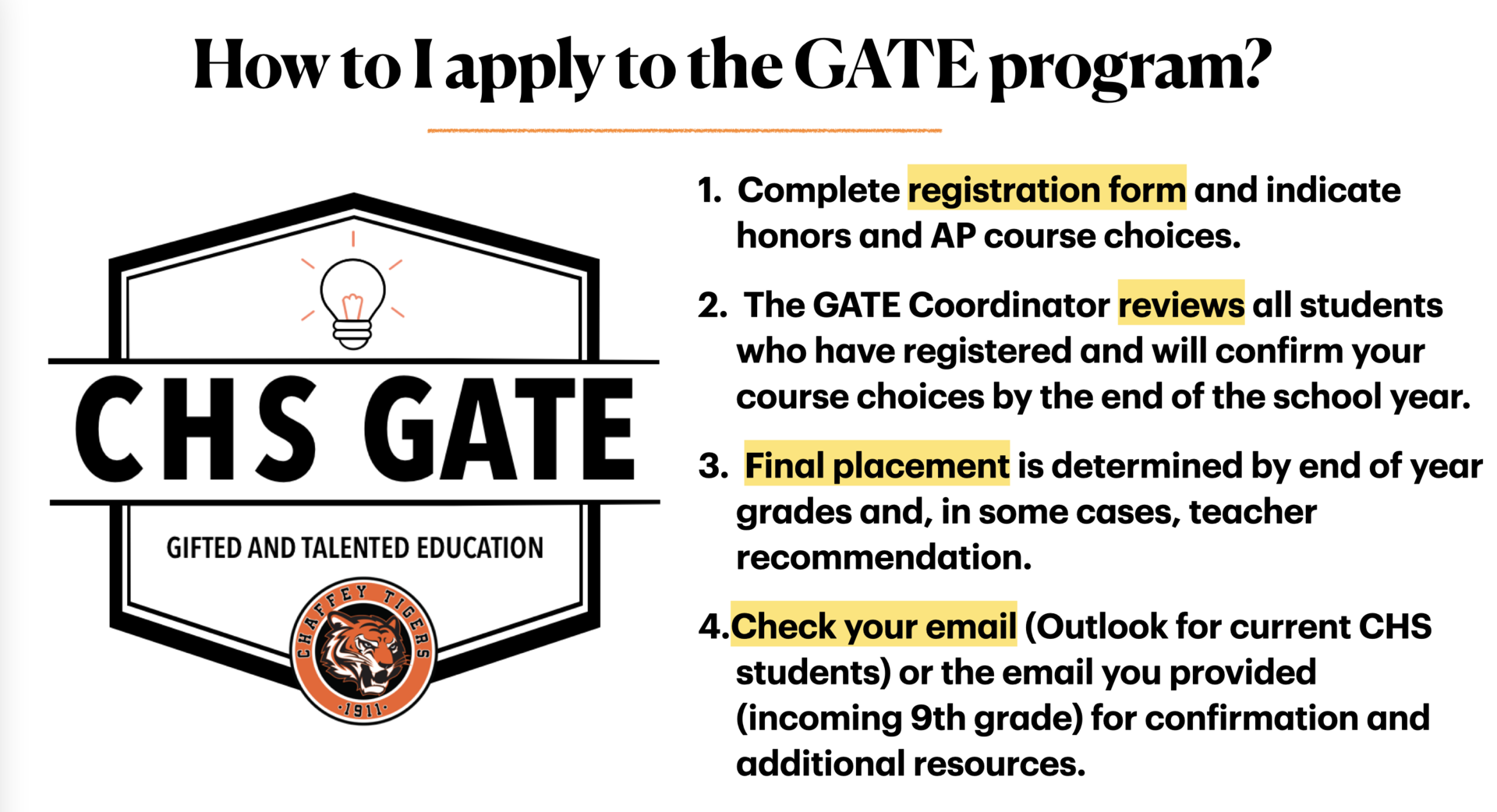 CHS GATE Program