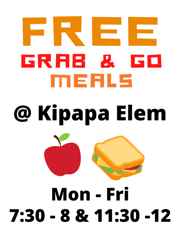 Free Grab and Go Meals at Kipapa Elem for Children 18 and Under Featured Photo