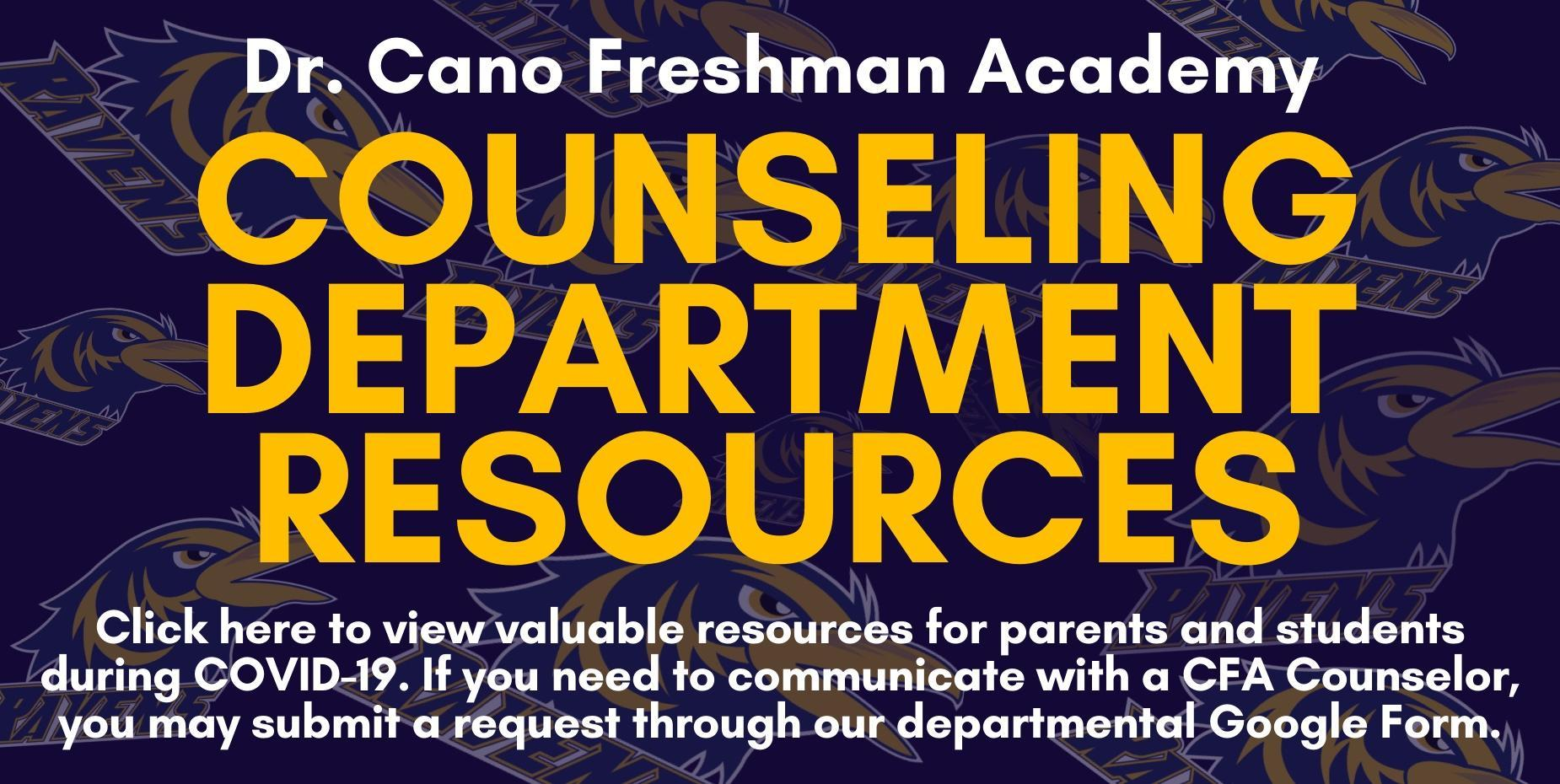 Counseling Department Resources