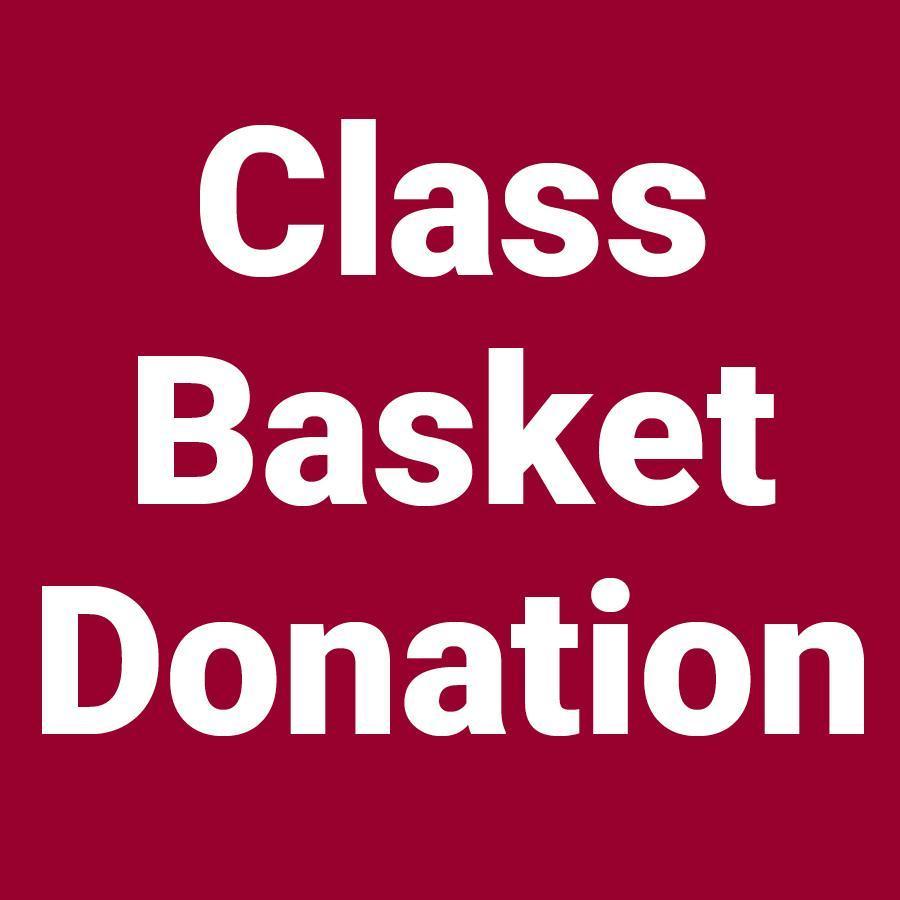 Class basket donation