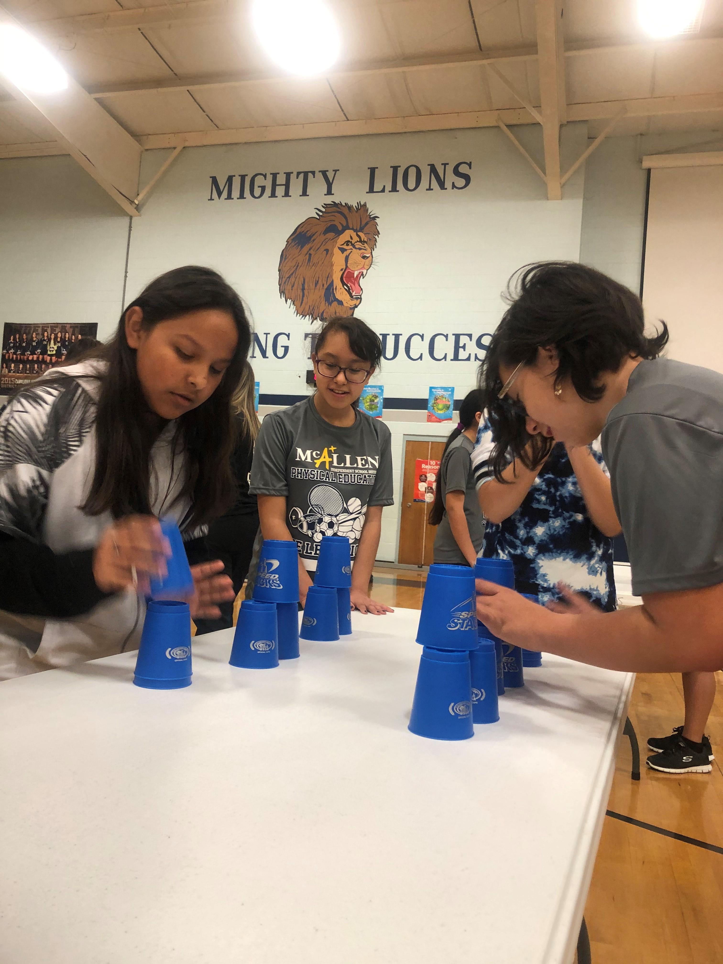 De Leon Middle School cupstacking