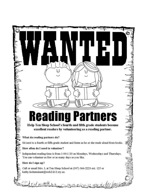 Reading Partners Wanted! Thumbnail Image