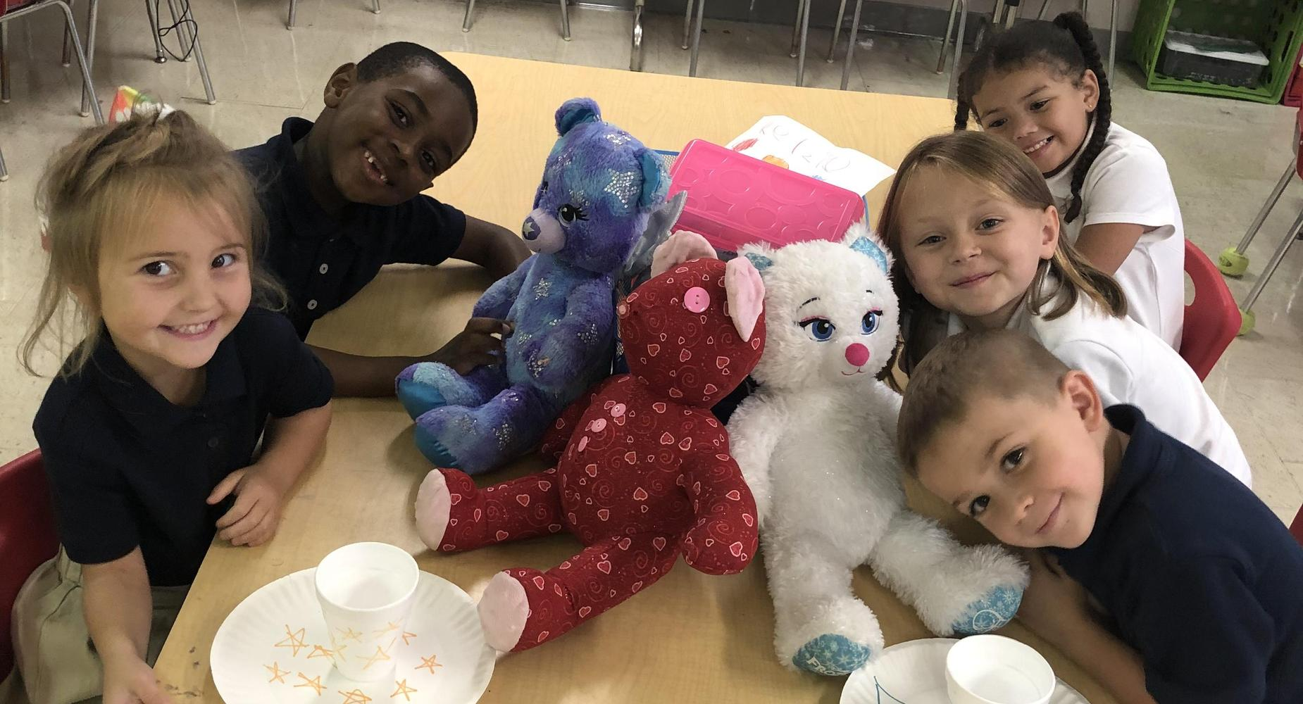 Mrs. Martins kindergarten class had fun matching patterns and colors in A Teddy Tea Party!