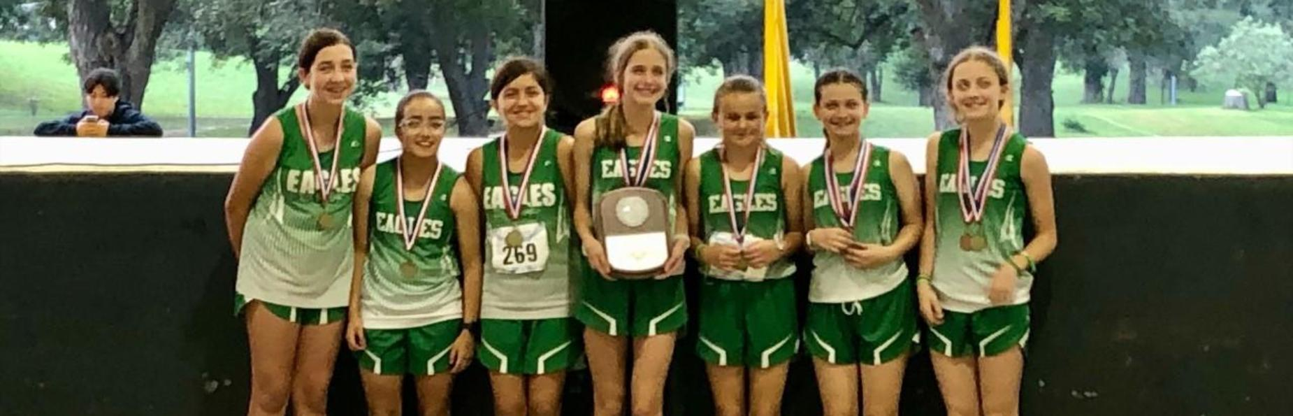 7th grade Girls' Cross Country District Champions