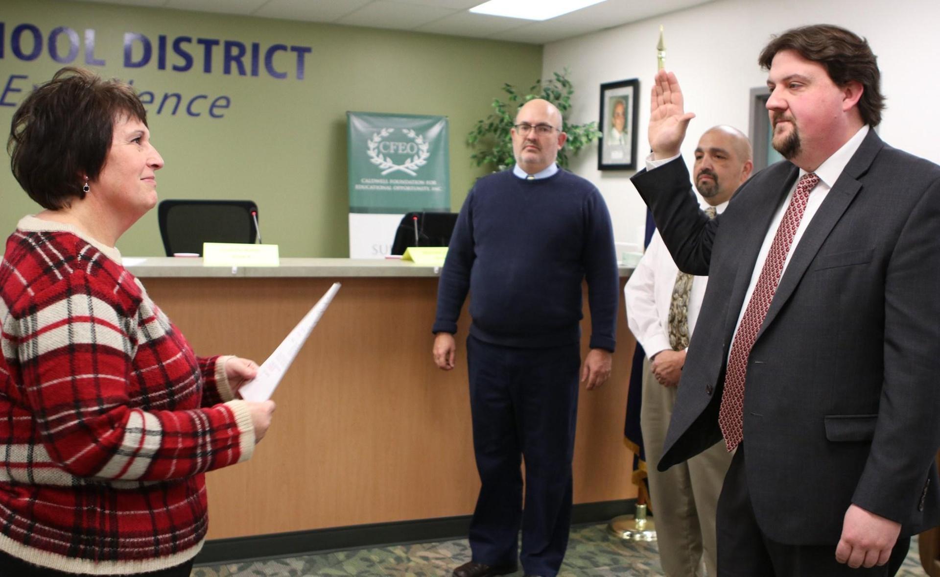 Trustee Andrew Butler sworn into office.