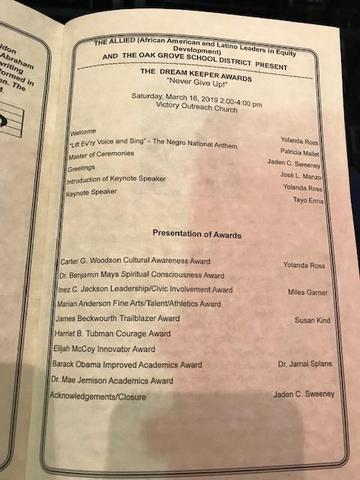 List of Awards