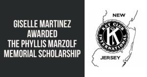 Giselle Martinez awarded scholarship from Key Club
