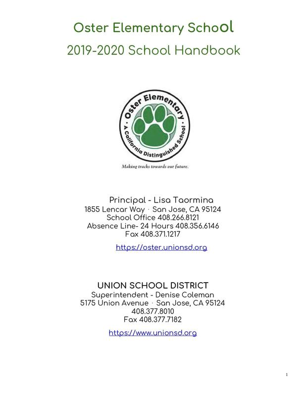 Oster Handbook 2019-2020 Featured Photo