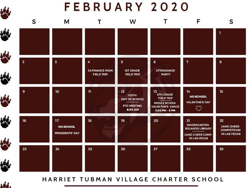February 2020 Calendar Featured Photo