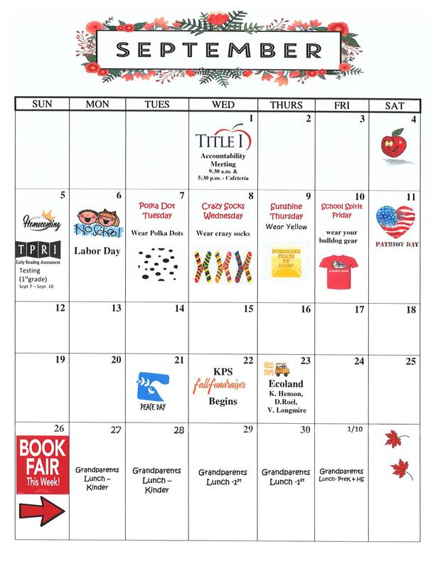September Calender Featured Photo