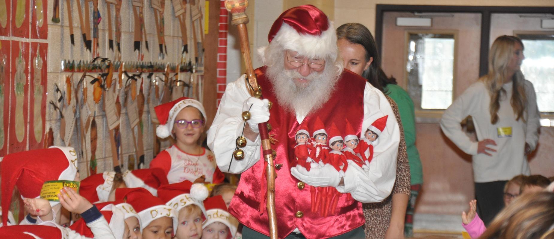 Santa visits Clear Creek Elementary School