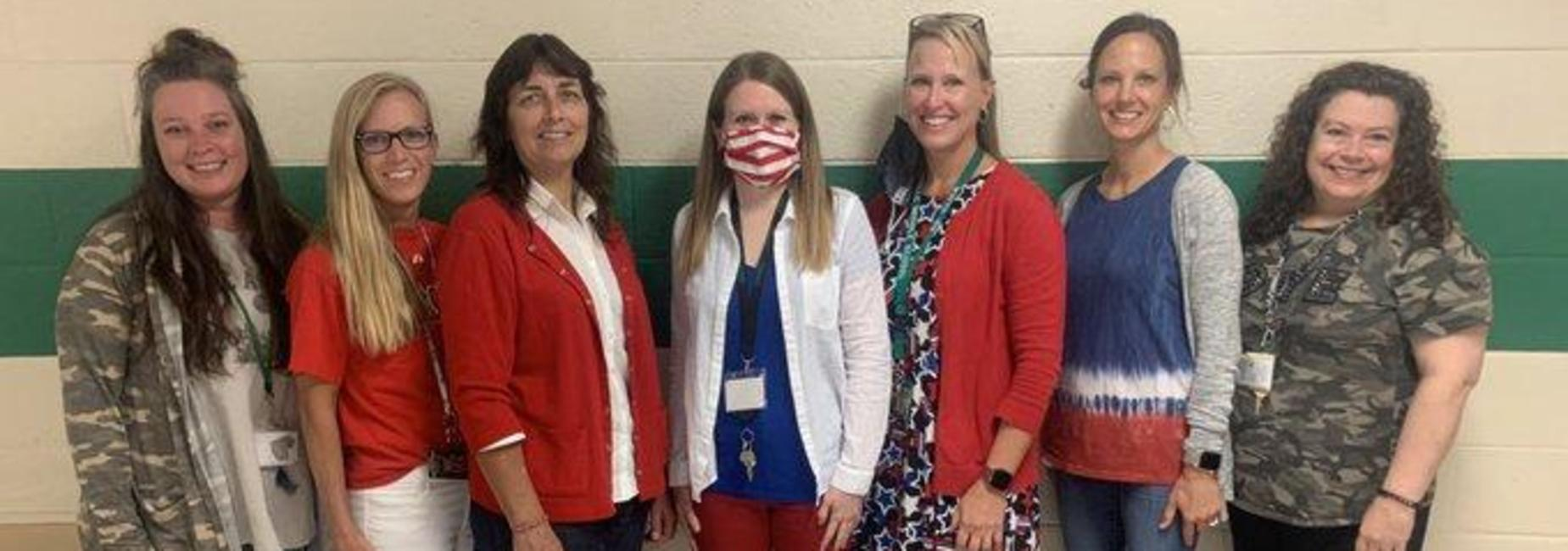 a picture of the GMS 7th grade teachers