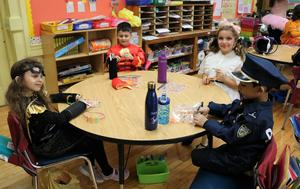 McKinley 1st graders enjoy classroom Halloween party.