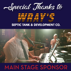 graphic thanking Wray's Septic tank and develpment co for a sponsorship for the evening entertainment.