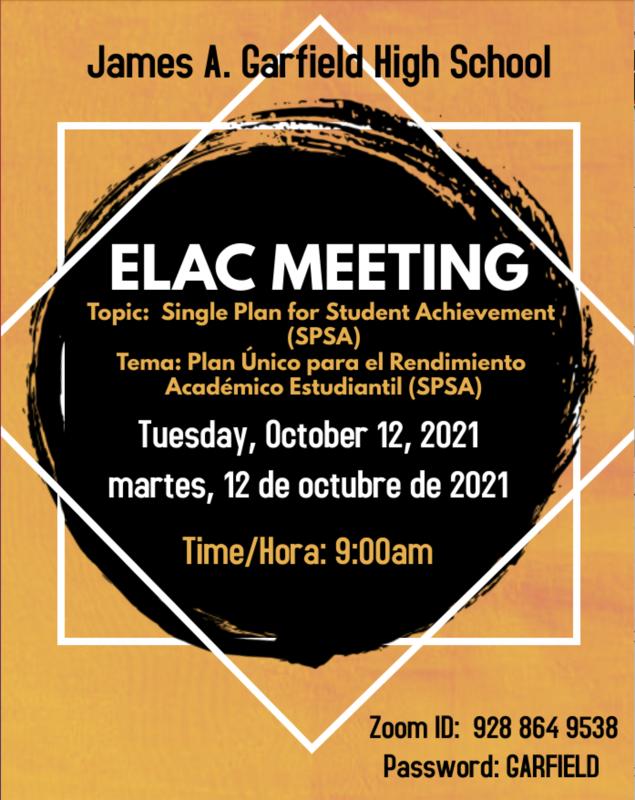 October ELAC Meeting