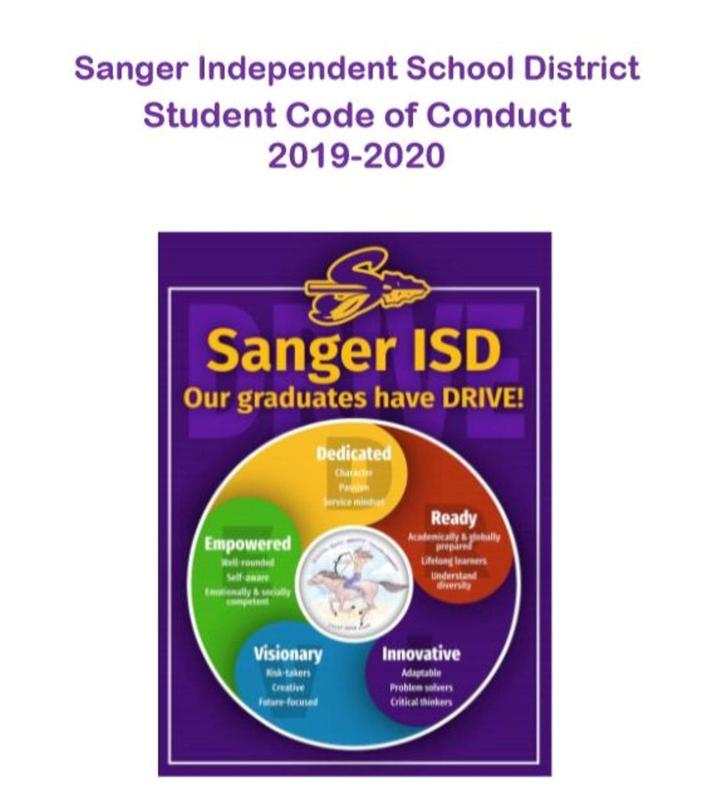 Sanger ISD Code of Conduct Image