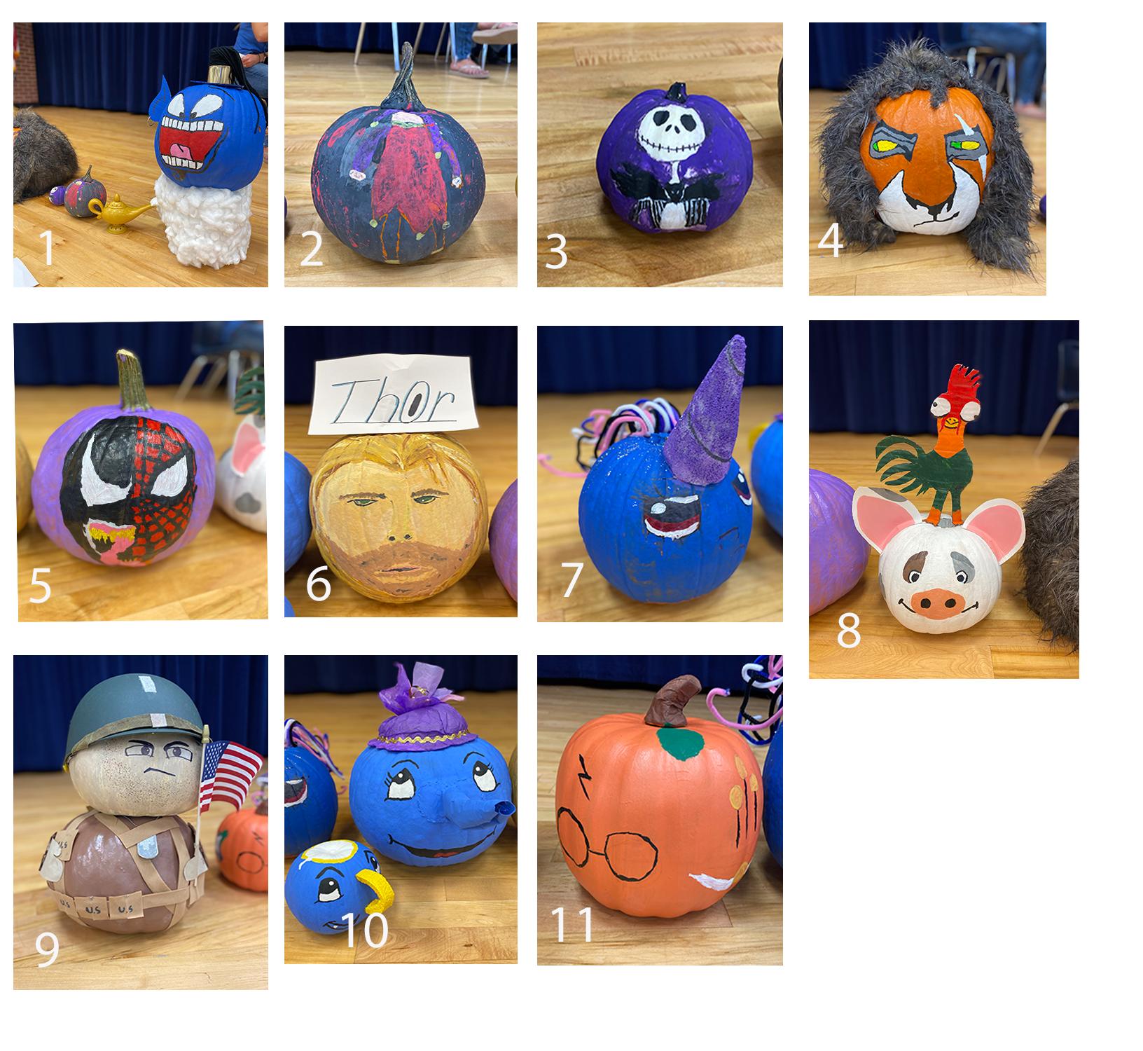 Favorite Character Pumpkins!