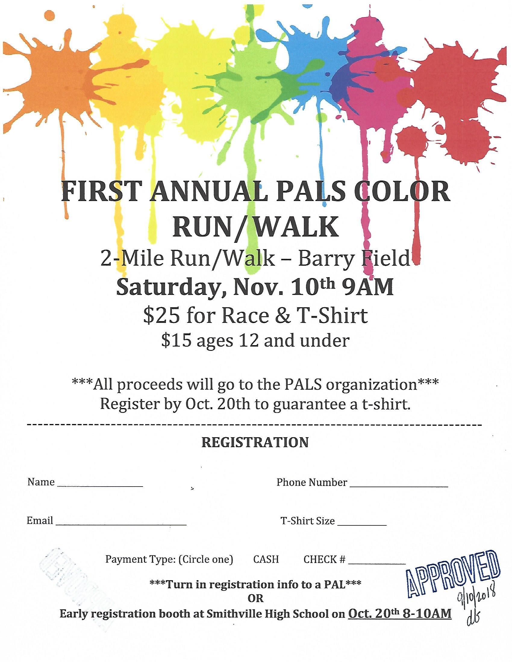 Color Run Registration Form