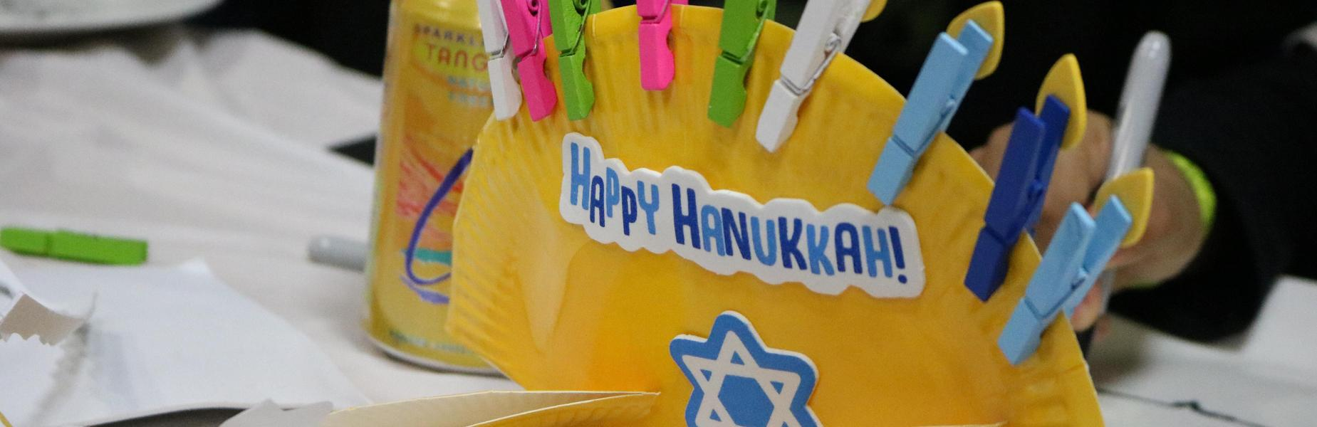 Photo of Hanukah craft at Handmade Holidays event at McKinley.