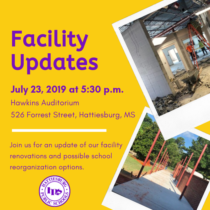 Facility Updates Session, July 23 Featured Photo