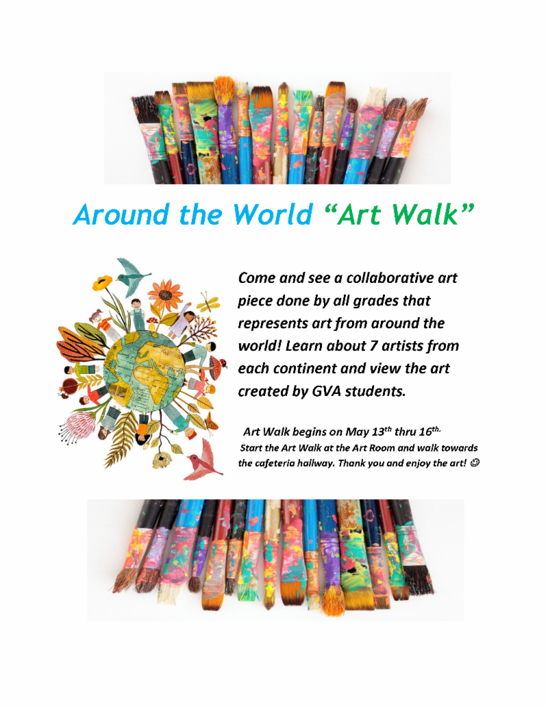 Art Walk informational flyer