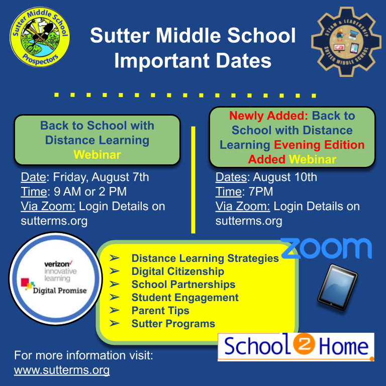 Link to Zoom Webinar for Sutter MS Distance Learning Featured Photo
