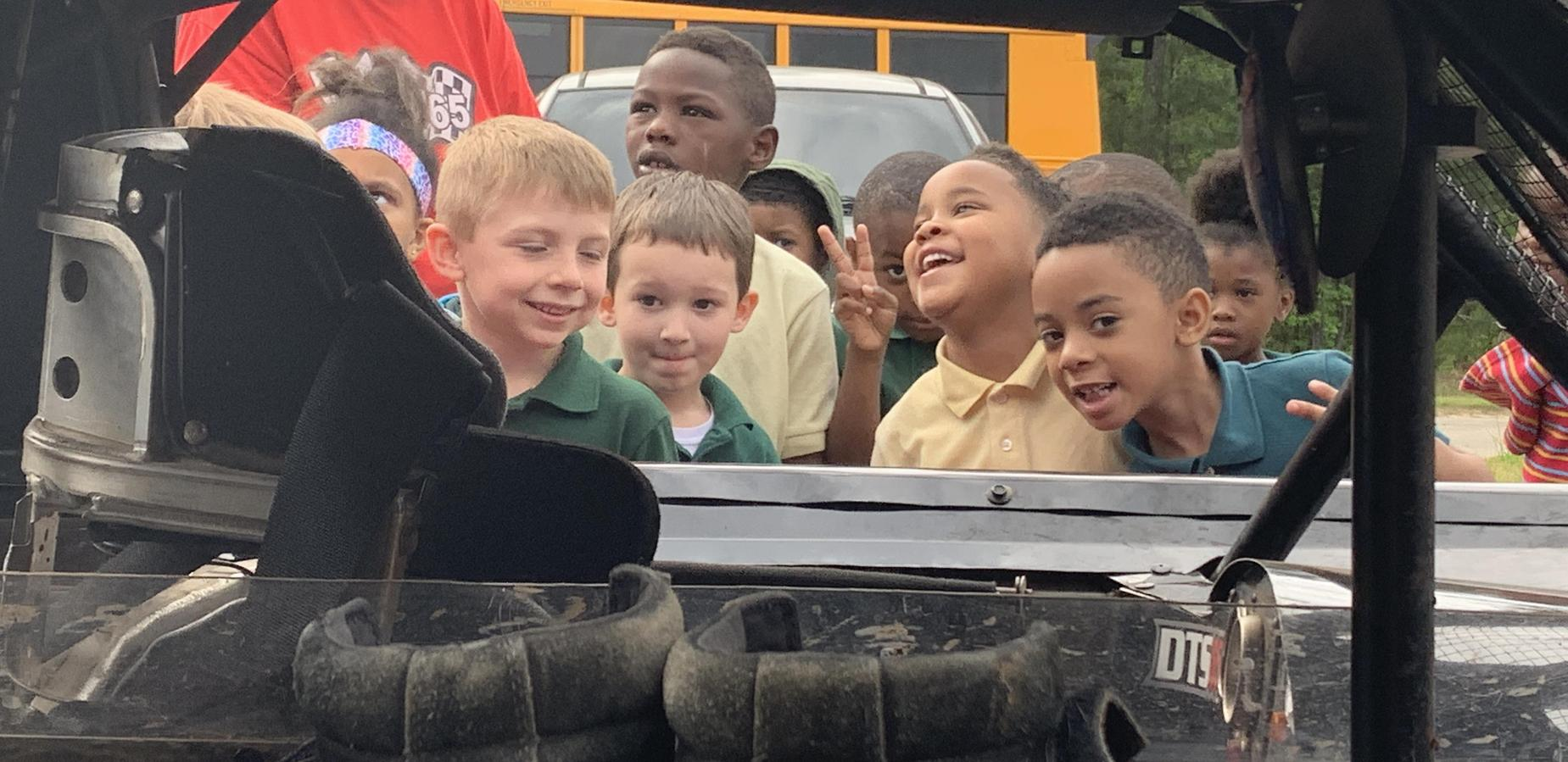 K students during Career Day