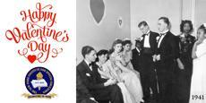 1941 photo NYI students at a Valentine's Day Party. Happy Valentine's Day from NYISE