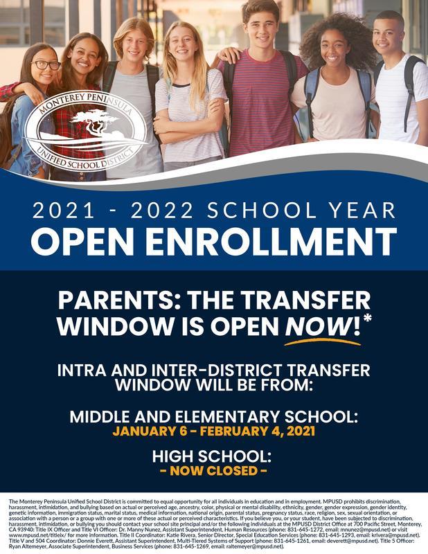 Open Enrollment English Flyer