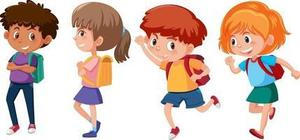Picture of kids walking
