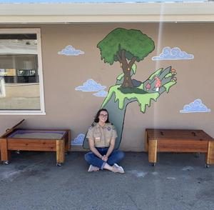 Sydney with eagle scout project