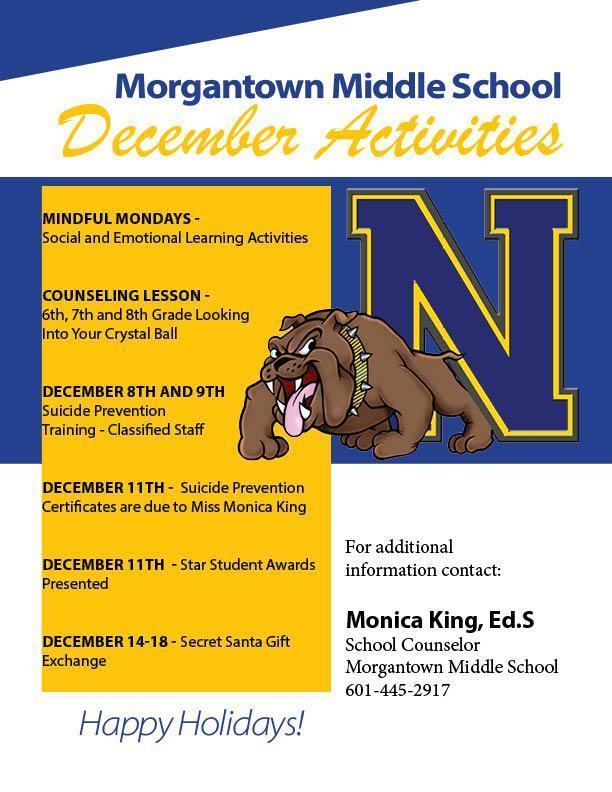 December Activities at Morgantown