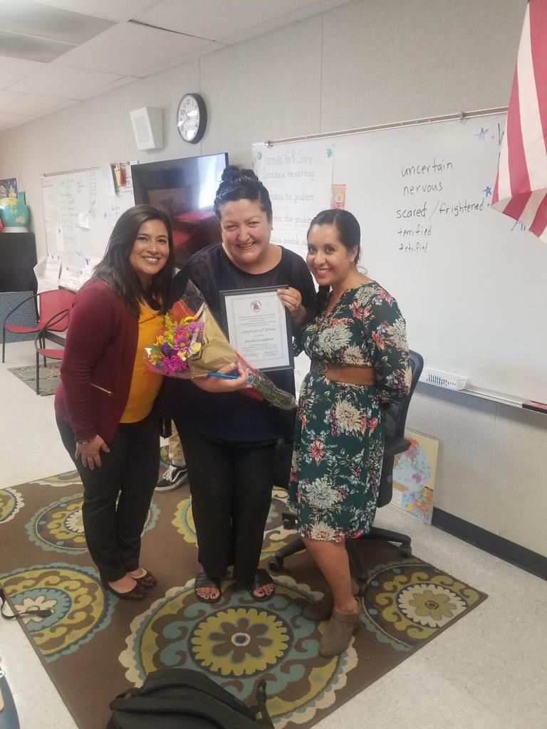 Tenure Celebration Mrs. Lueras and Admin