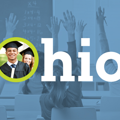 Ohio Department of Education logo and picture of a graduate