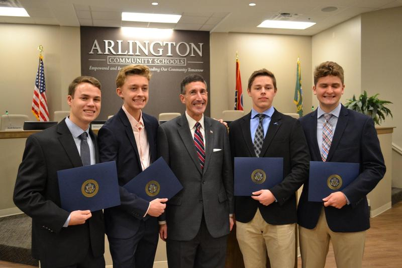 Four CHS Seniors receive Military Academy recommendation letters from Rep. Kustoff Featured Photo