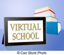 Virtual School text on laptop