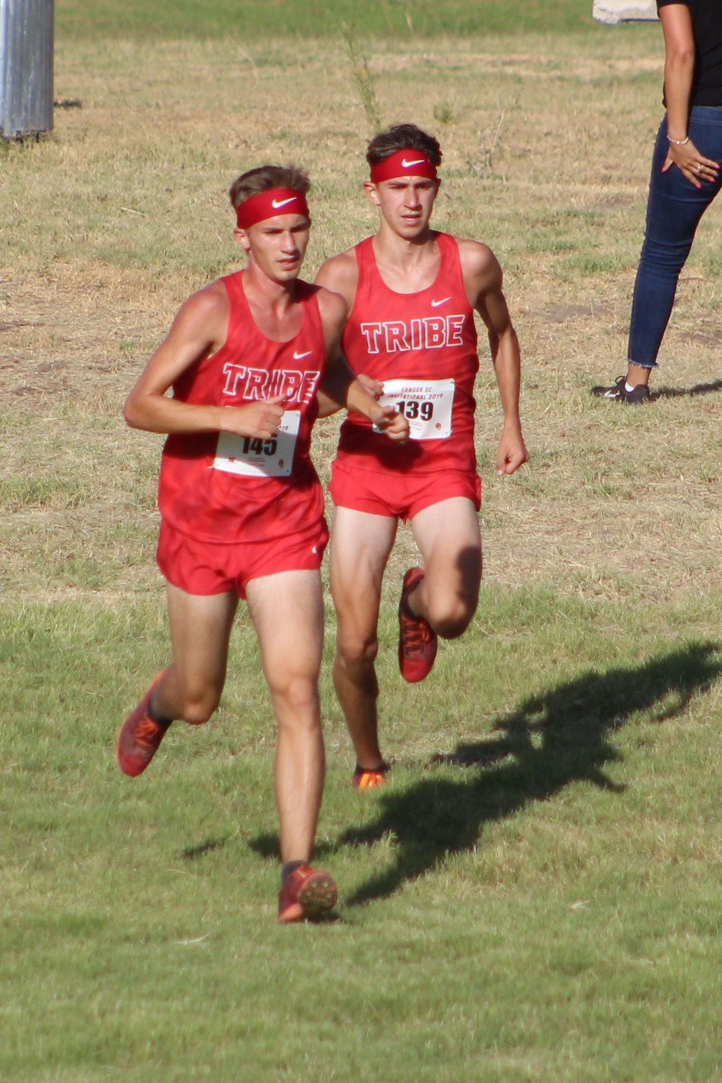 Cross country runners in action at Sanger