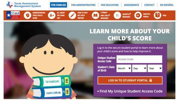 STAAR Student Portal