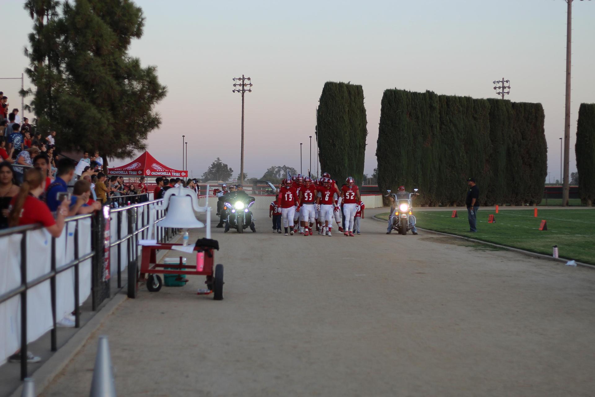 Football player's pregame festivities