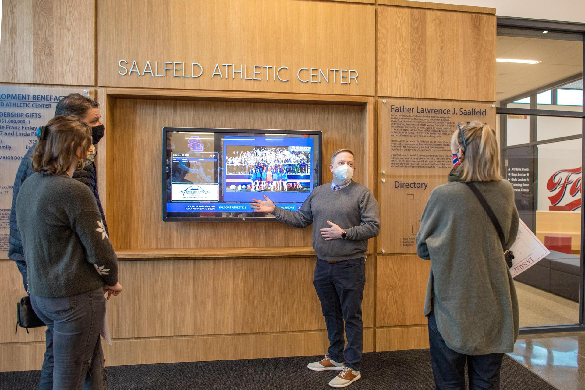 President Kuffner showing off the new touchscreen display