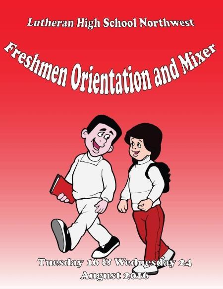 Freshmen Orientation and Mixer.