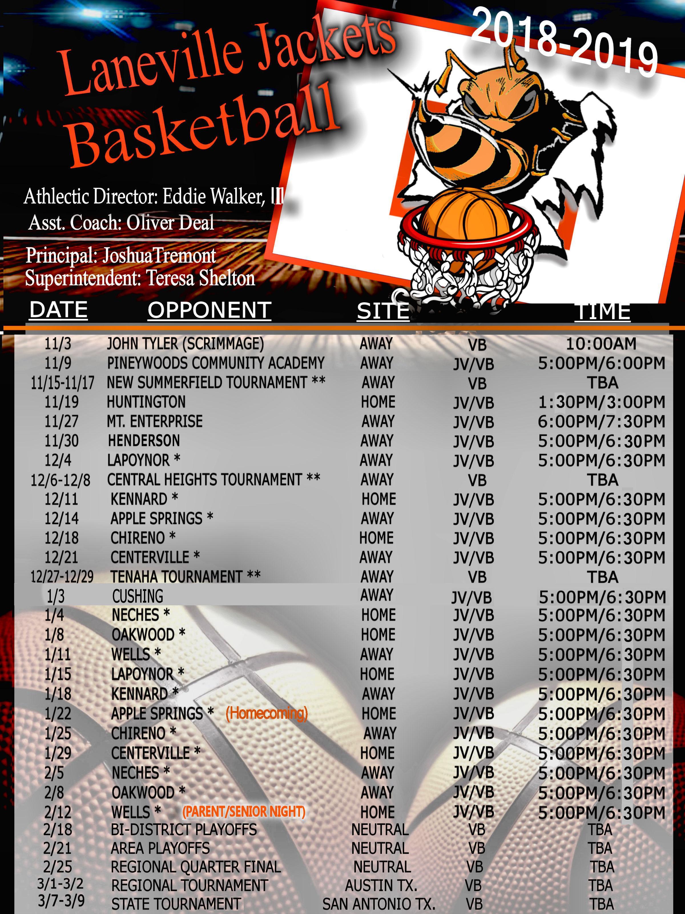 laneville yellowjackets boys basketball schedule hs athletics