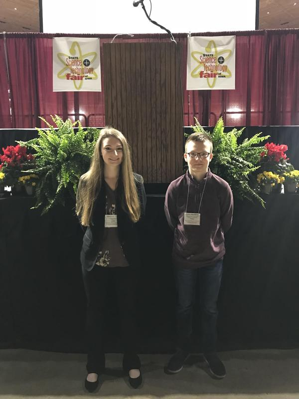Burkhart, Tranel participate in State Science & Technology Fair of Iowa Thumbnail Image